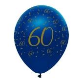 Luftballons Blau zum 60. Geburtstag