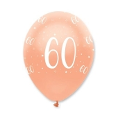 Luftballons Rosegold zum 60. Geburtstag
