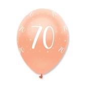 Luftballons Rosegold zum 70. Geburtstag