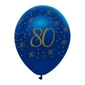 Luftballons Blau zum 80. Geburtstag