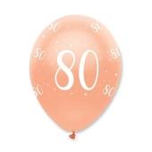 Luftballons Rosegold zum 80. Geburtstag