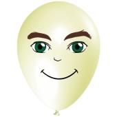 Luftballon Gesicht, Mann mit grünen Augen, elfenbein, 1 Stück
