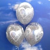 Luftballon Zahl 25  zur Silbernen Hochzeit