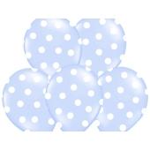 Luftballons Baby Blue Dots, zur Geburt
