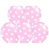 Luftballons Baby Pink Dots, zur Geburt