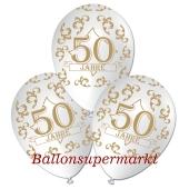Luftballons 50 Jahre, weiss