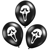 Luftballons Halloween, Scream Masken Dekoration
