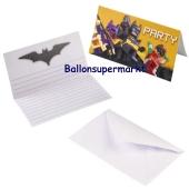 LEGO Batman Einladungskarten zum Kindergeburtstag