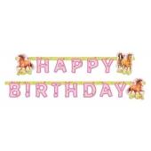 Pferde Charming Horses 2 Geburtstagsgirlande Happy Birthday  zum Kindergeburtstag