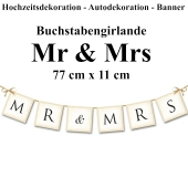 Letterbanner Mr & Mrs