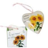 """Herzhänger """"Liebste Mama der Welt"""" aus Porzellan zum Muttertag"""