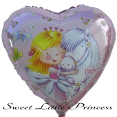 Sweet Little Princess Luftballon aus Folie inklusive Helium