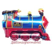 Große Lokomotive Luftballon ohne Helium
