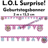 Kindergeburtstagsbanner LOL Surprise