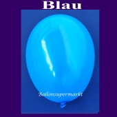 Luftballons 14-18 cm, kleine Rundballons aus Latex, Blau, 25 Stück
