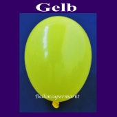 Luftballons 14-18 cm, kleine Rundballons aus Latex, Gelb, 100 Stück