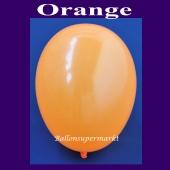 Luftballons 14-18 cm, kleine Rundballons aus Latex, Orange, 100 Stück