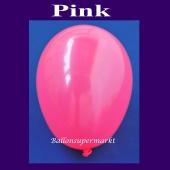 Luftballons 14-18 cm, kleine Rundballons aus Latex, Pink, 100 Stück