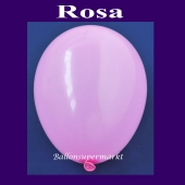 Luftballons 14-18 cm, kleine Rundballons aus Latex, Rosa, 25 Stück
