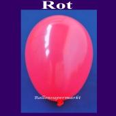 Luftballons 14-18 cm, kleine Rundballons aus Latex, Rot, 100 Stück