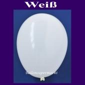 Luftballons 14-18 cm, kleine Rundballons aus Latex, Weiß, 25 Stück