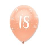 Luftballons Rosegold zum 18. Geburtstag
