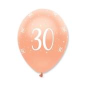 Luftballons Rosegold zum 30. Geburtstag