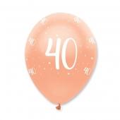 Luftballons Rosegold zum 40. Geburtstag