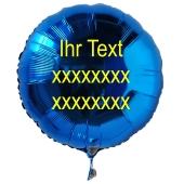 Luftballon aus Folie mit Text, Beschriftung, Spruch