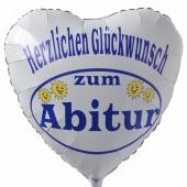 Herzlichen Glückwunsch zum Abitur, Luftballon aus Folie mit Helium Ballongas