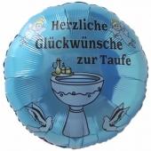 Luftballon mit Helium zur Taufe eines Jungen: Herzliche Glückwünsche zur Taufe