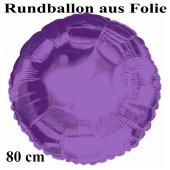 Luftballon aus Folie, Rundballon, Lila, 80 cm