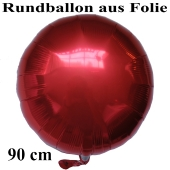 Luftballon aus Folie, Rundballon, Rot, 90 cm