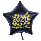 Silvester Luftballon, Sternballon aus Folie, 2020 - Happy New Year