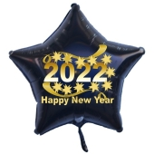 Silvester Luftballon, Sternballon aus Folie, 2022 - Happy New Year