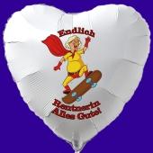 Ballongrüße Luftballon mit Helium: Endlich Rentnerin! Alles Gute!