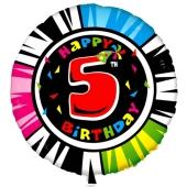 Luftballon aus Folie zum 5. Geburtstag, Animalloon, inklusive Ballongas