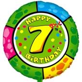 Luftballon aus Folie zum 7. Geburtstag, Animalloon, inklusive Ballongas