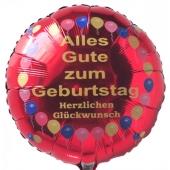 Luftballon Alles Gute zum Geburtstag, Herzlichen Glückwunsch, Balloons, Rundballon mit Helium-Ballongas