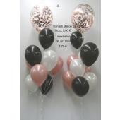 Ballon-Bouquet mit Konfetti Luftballon und Latexballons