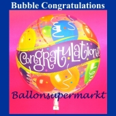Bubble Congratulations Luftballon mit Helium