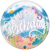 Luftballon aus PVC , Bubble Happy Birthday Meerjungfrauen Party inklusive Helium