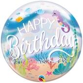 Luftballon Bubble, Happy Birthday Meerjungfrauen Party ohne Helium/Ballongas