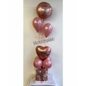 Luftballon-Deko- mit Geschenkbox mit LED
