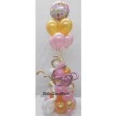 Fantastische Luftballon-Deko in Pink und Gold
