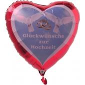Luftballon Glückwünsche zur Hochzeit, Hochzeitsballon mit Helium-Ballongas
