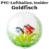 PVC-Folien-Luftballon, Goldfisch, rot, Insider Ballon, inklusive Helium-Ballongas