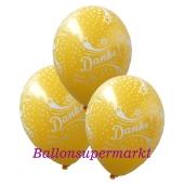 Motiv-Luftballons Danke, gelb