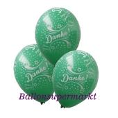 Motiv-Luftballons Danke, grün