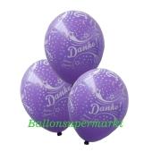 Motiv-Luftballons Danke, Lila